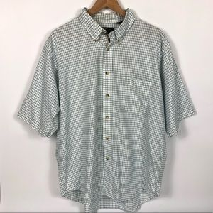 Orvis Short Sleeve Striped Collared Shirt White XL